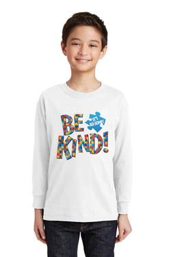 Image of Be Kind! It's Au-some - Gildan® Youth Heavy Cotton™ 100% Cotton Long Sleeve T-Shirt