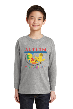 Image of Autism - Seeing the World a Little Differently - Gildan® Youth Heavy Cotton™ 100% Cotton Long Sleeve T-Shirt