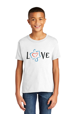 Image of Love, Autism Awareness - Gildan Softstyle® Youth Short Sleeve T-Shirt