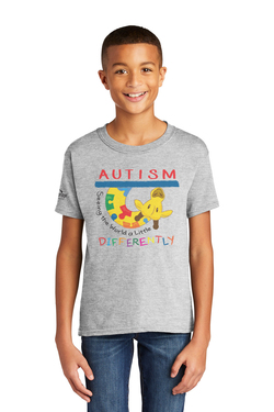 Image of Autism - Seeing the World a Little Differently - Gildan Softstyle® Youth Short Sleeve T-Shirt
